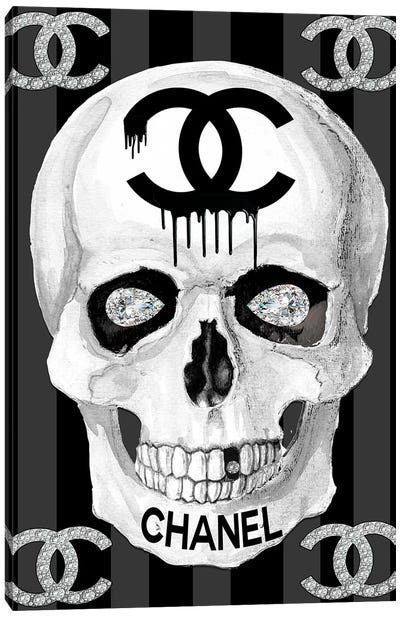 Chanel Skull Canvas Art Print