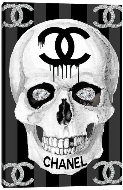 Chanel Skull Canvas Art Print