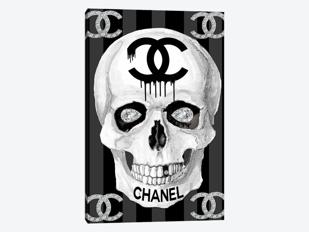 Chanel Skull by Studio One 1-piece Canvas Wall Art