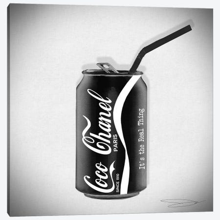 Coco Cola Classic Canvas Print #SOJ7} by Studio One Canvas Wall Art