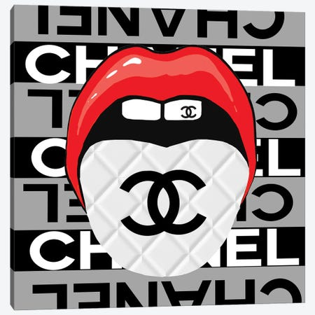 Speak To Me With Chanel Canvas Print #SOJ91} by Studio One Canvas Art
