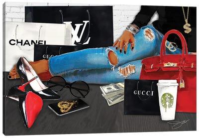 Work Hard Shop Hard Canvas Art Print
