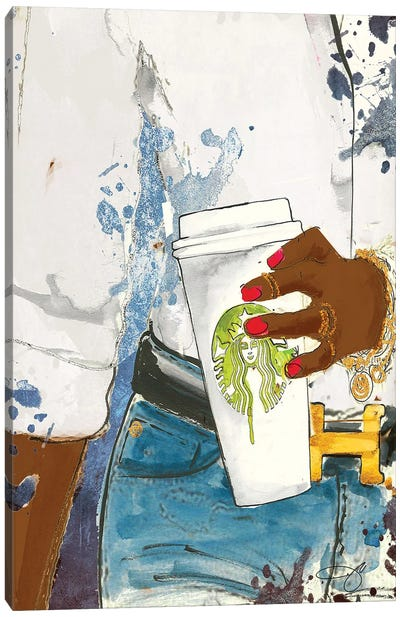 Faith In Starbucks Canvas Art Print