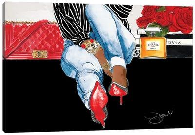 Show Me Your Shoes Canvas Art Print