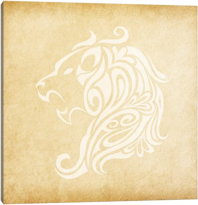 Influential Lion Canvas Art Print