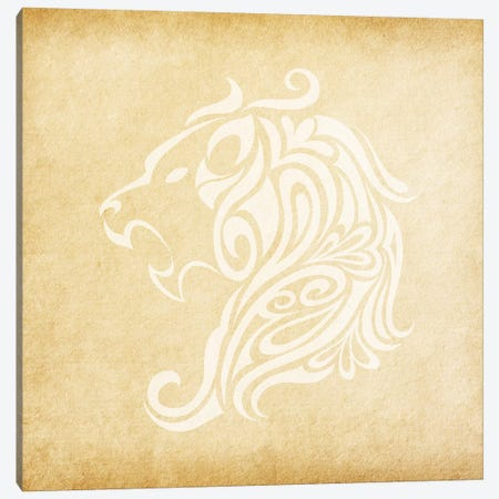 Influential Lion Canvas Print #SOL12} by 5by5collective Canvas Wall Art