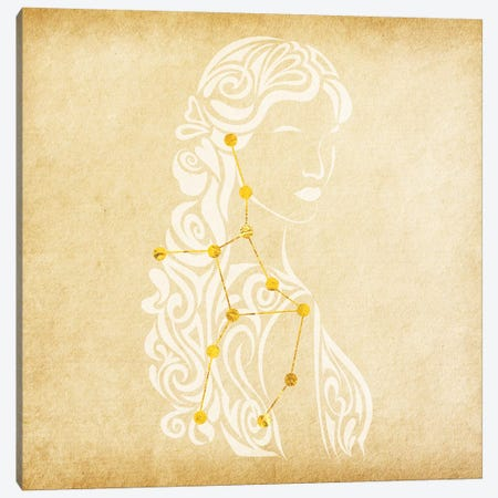 Meticulous Maiden with Constellation Canvas Print #SOL13} by 5by5collective Canvas Artwork