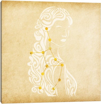 Meticulous Maiden with Constellation Canvas Art Print
