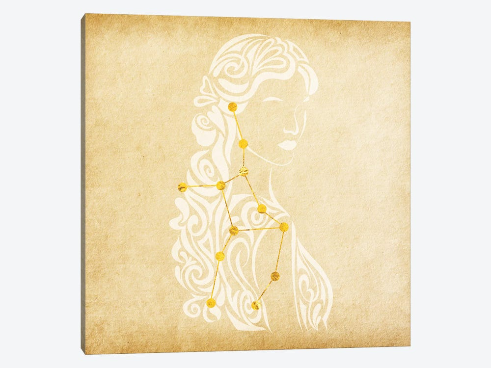 Meticulous Maiden with Constellation by 5by5collective 1-piece Canvas Art Print