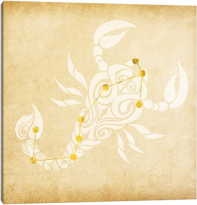 Passionate Scorpion with Constellation Canvas Art Print