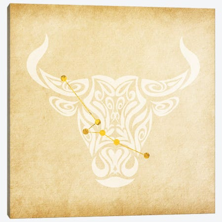 Reliable Bull with Constellation Canvas Print #SOL17} by 5by5collective Art Print