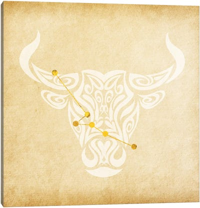 Reliable Bull with Constellation Canvas Art Print