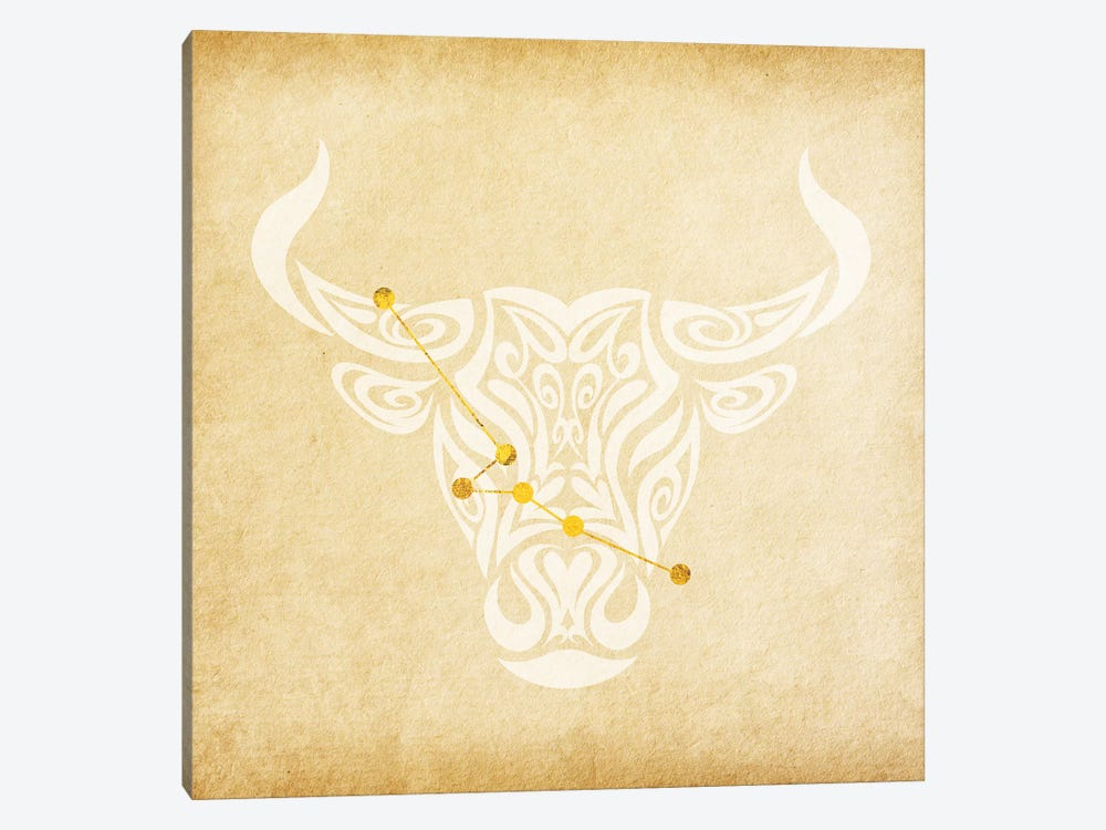 Reliable Bull with Constellation 1-piece Canvas Print