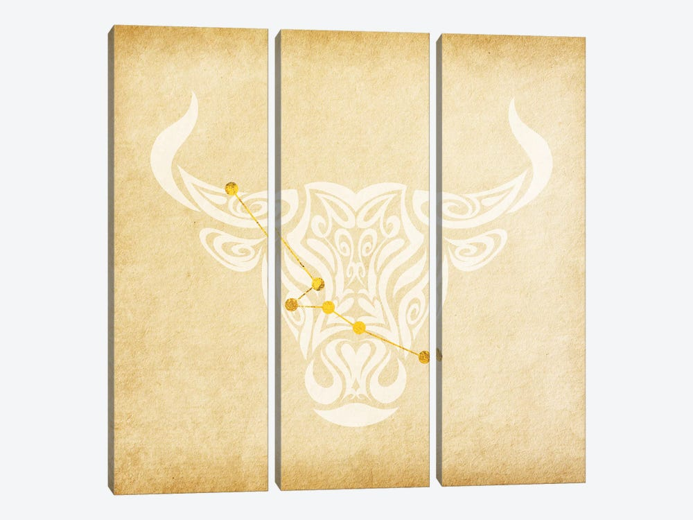 Reliable Bull with Constellation 3-piece Art Print
