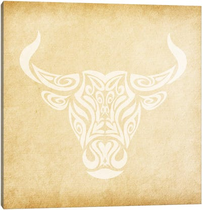Reliable Bull Canvas Art Print