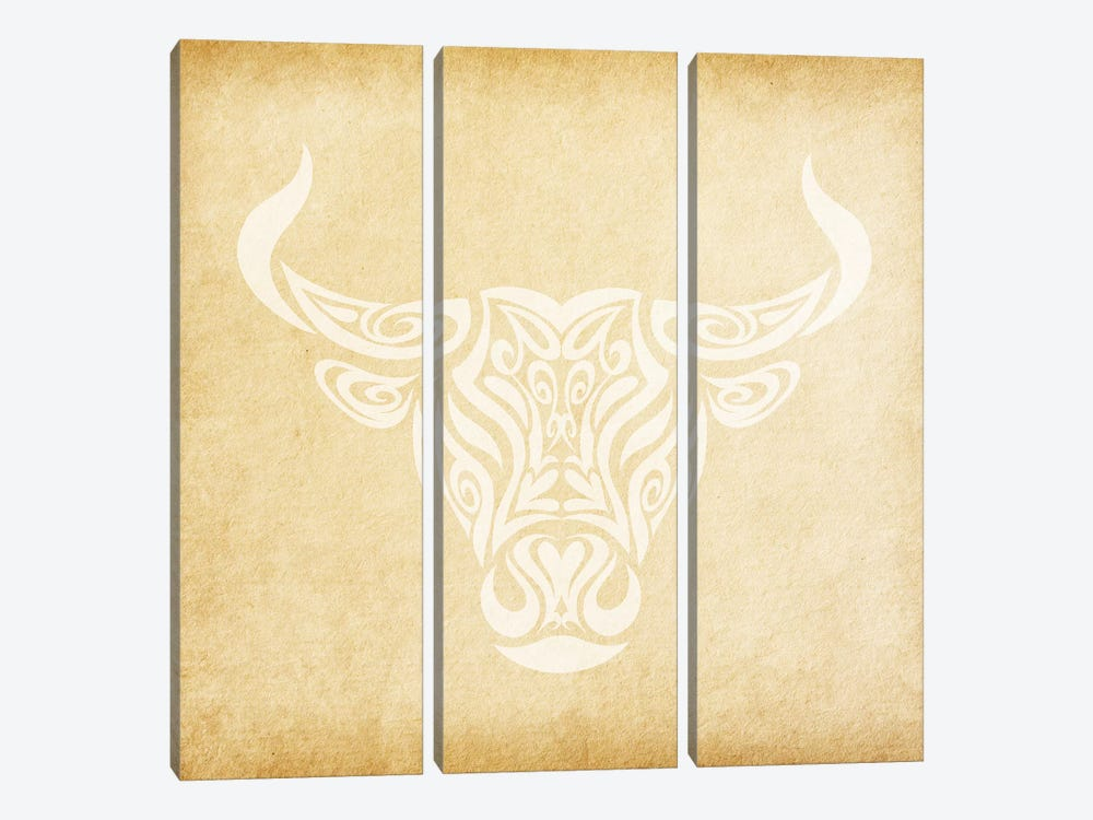 Reliable Bull by 5by5collective 3-piece Canvas Wall Art