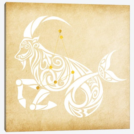 Trustworthy Sea-Goat with Constellation Canvas Print #SOL19} by 5by5collective Canvas Art