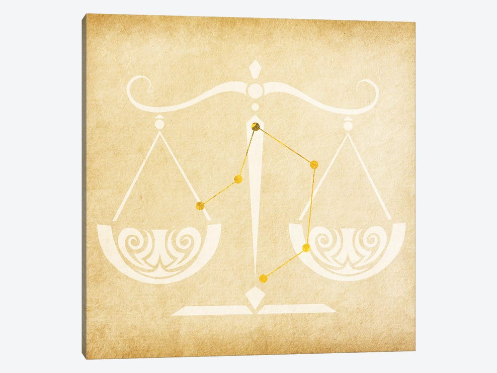 Balanced Scale with Constellation by 5by5collective 1-piece Canvas Art