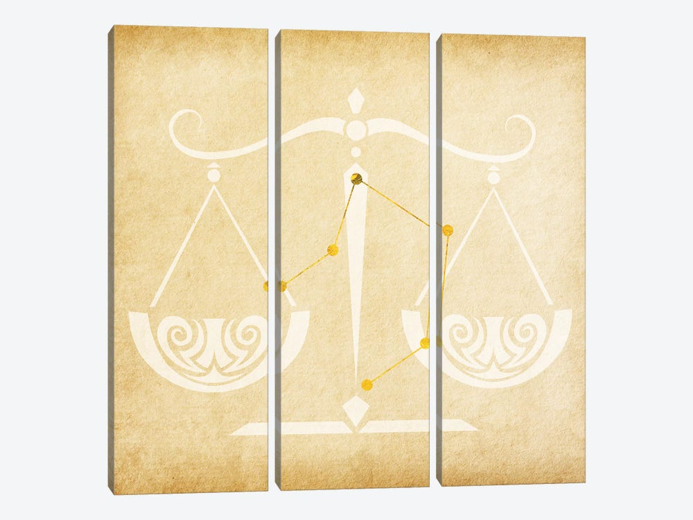 Balanced Scale with Constellation by 5by5collective 3-piece Canvas Artwork