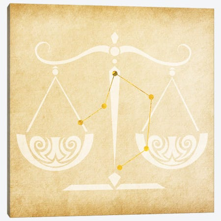 Balanced Scale with Constellation Canvas Print #SOL1} by 5by5collective Canvas Art Print
