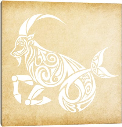 Trustworthy Sea-Goat Canvas Art Print