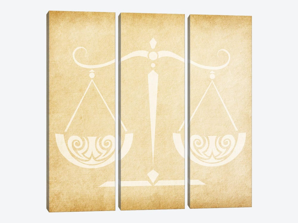 Balanced Scale by 5by5collective 3-piece Canvas Print