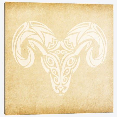 Courageous Ram Canvas Print #SOL6} by 5by5collective Canvas Art