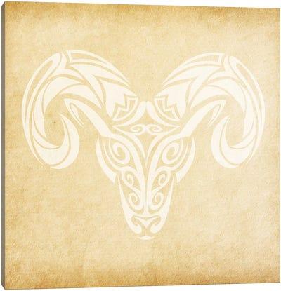 Courageous Ram Canvas Art Print