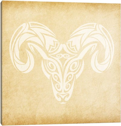 Courageous Ram Canvas Art Print