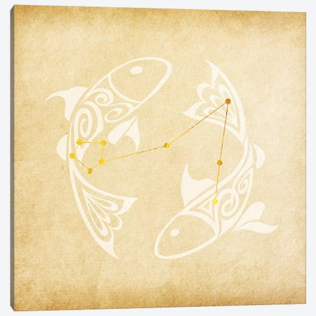 Imaginative Fish with Constellation Canvas Print #SOL7} by 5by5collective Canvas Art