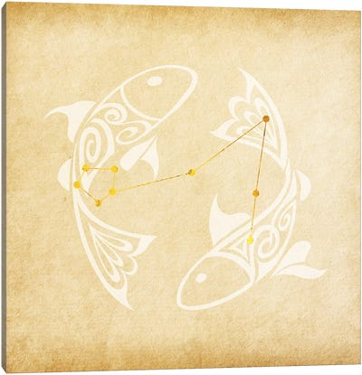 Imaginative Fish with Constellation Canvas Art Print