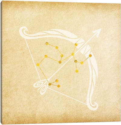 Independent Archer with Constellation Canvas Art Print