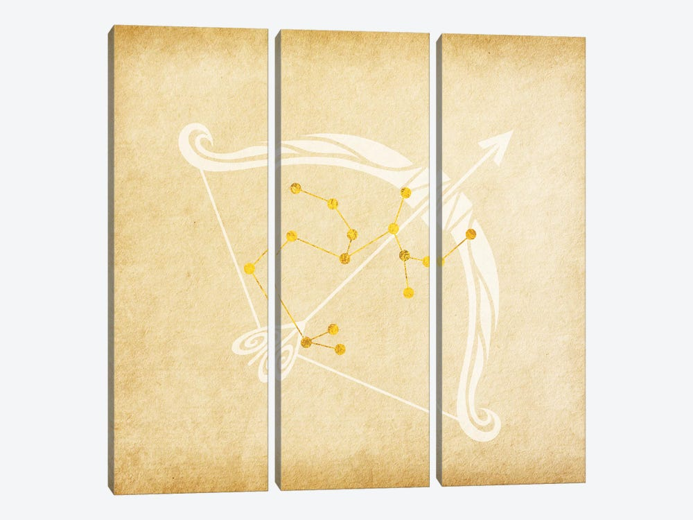 Independent Archer with Constellation by 5by5collective 3-piece Canvas Artwork