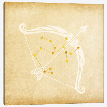 Independent Archer with Constellation Canvas Print #SOL9} by 5by5collective Art Print