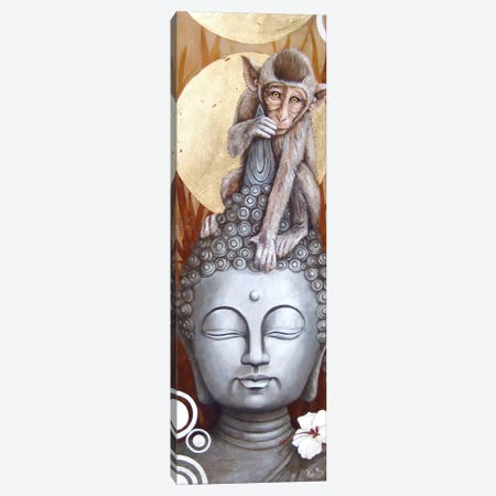 Le Petit Bouddha (The Little Buddha) Canvas Print #SOP10} by Sophie Wilkins Canvas Artwork