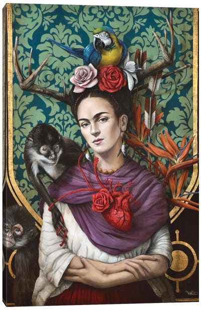 Hommage a Frida (A Tribute To Frida) I Canvas Art Print
