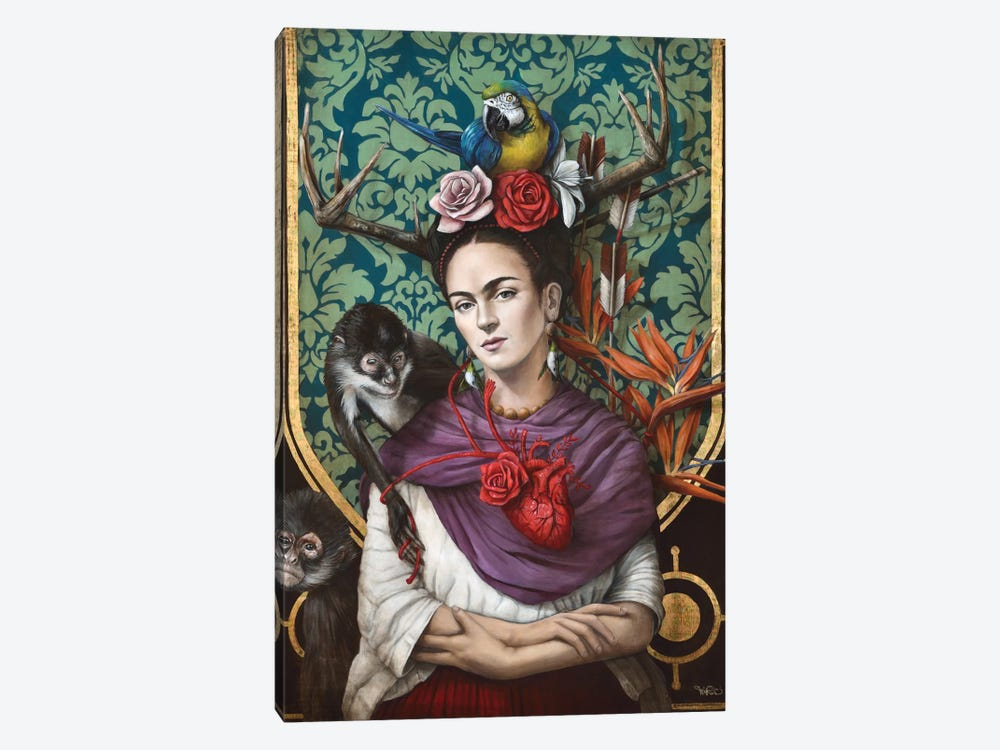 Hommage a Frida (A Tribute To Frida) I by Sophie Wilkins 1-piece Canvas Artwork