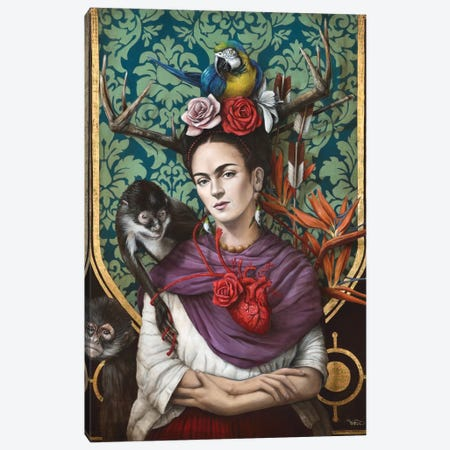 Hommage a Frida (A Tribute To Frida) I Canvas Print #SOP1} by Sophie Wilkins Canvas Art