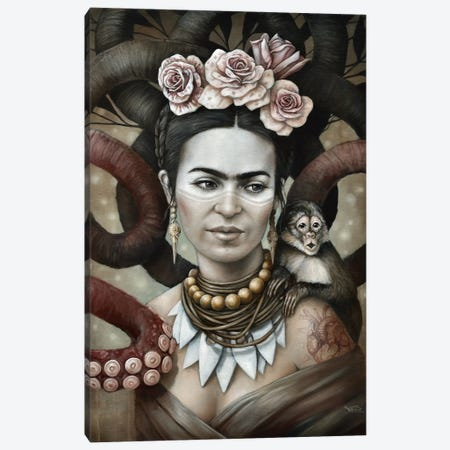 Hommage a Frida (A Tribute To Frida) II 3-Piece Canvas #SOP28} by Sophie Wilkins Canvas Print