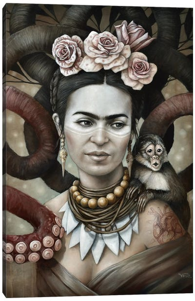 Hommage a Frida (A Tribute To Frida) II Canvas Art Print