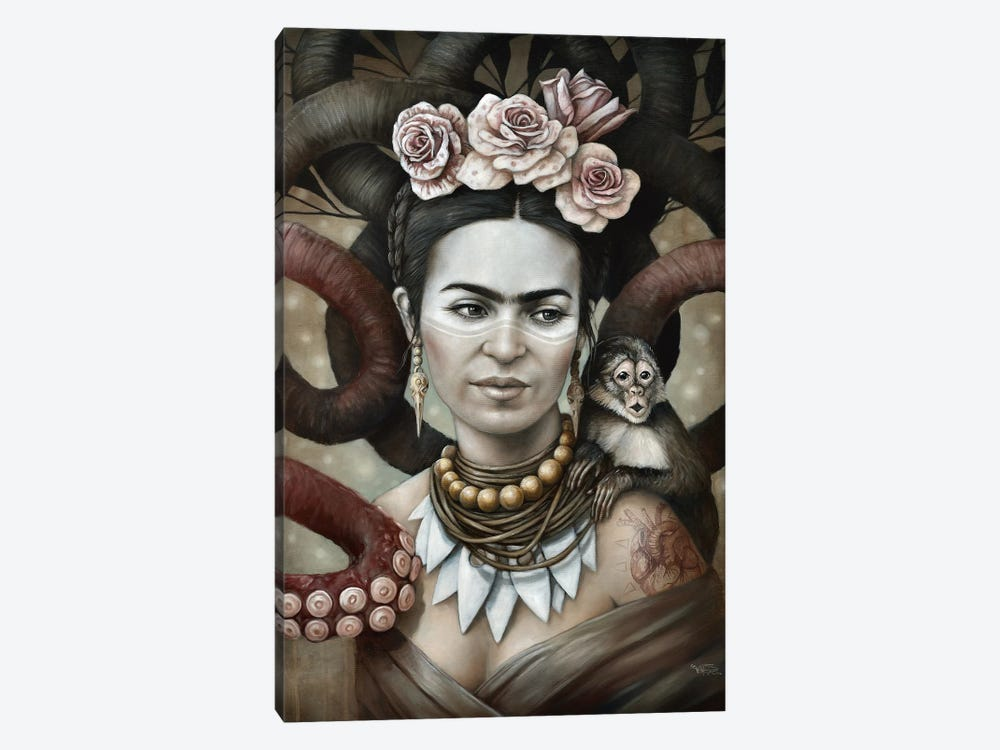 Hommage a Frida (A Tribute To Frida) II by Sophie Wilkins 1-piece Canvas Wall Art