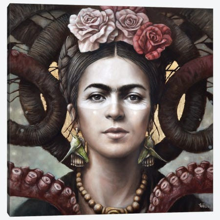 Hommage a Frida (A Tribute To Frida) III Canvas Print #SOP29} by Sophie Wilkins Canvas Art Print