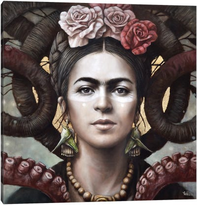 Hommage a Frida (A Tribute To Frida) III Canvas Art Print