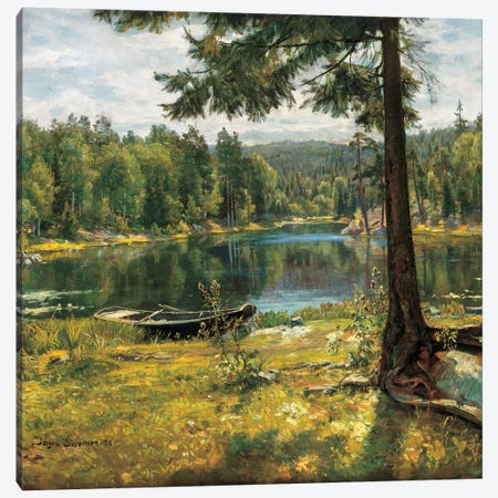 Summer On The Lake Canvas Print #SOR1} by Jorgen Sorensen Canvas Art