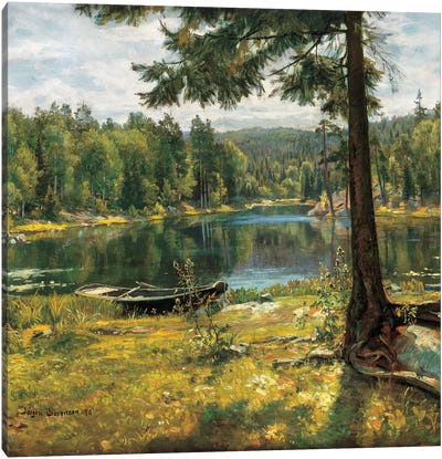 Summer On The Lake Canvas Art Print