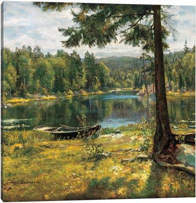 Summer On The Lake Canvas Art Print
