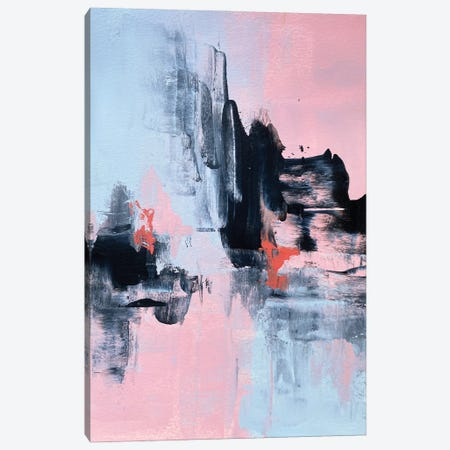 Pink And Grey Abstract I Canvas Print #SPB104} by Spellbound Fine Art Canvas Art Print