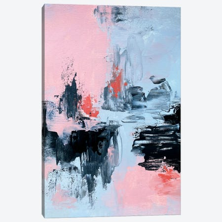 Pink And Grey Abstract II Canvas Print #SPB105} by Spellbound Fine Art Canvas Art Print