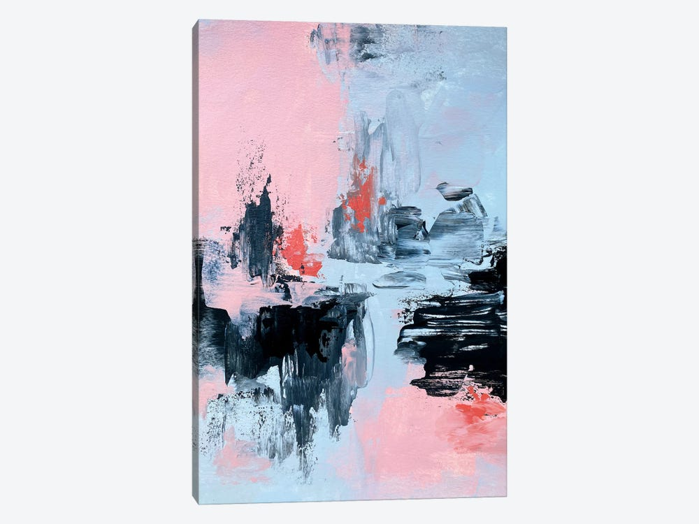Pink And Grey Abstract II by Spellbound Fine Art 1-piece Art Print