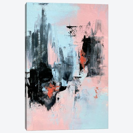 Pink And Grey Abstract III Canvas Print #SPB106} by Spellbound Fine Art Canvas Art Print